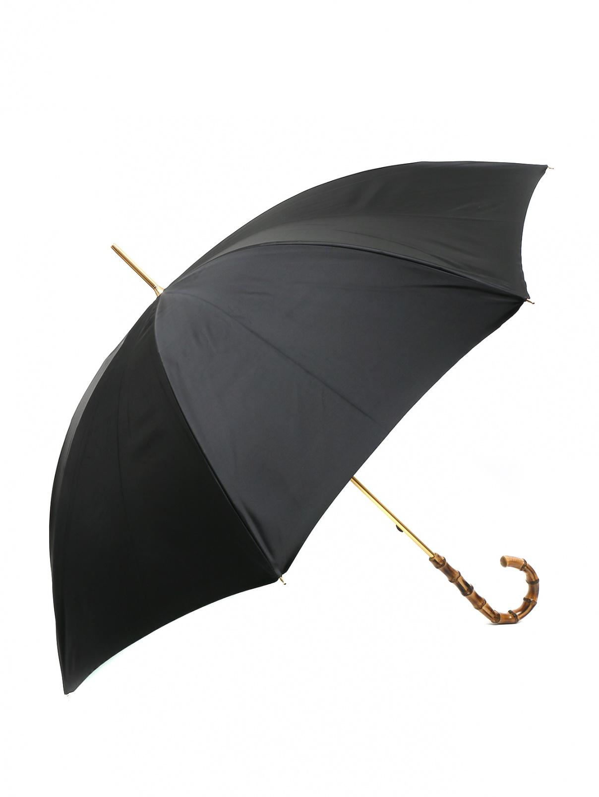 Зонт-трость с принтом и декоративной ручкой Pasotti  –  Общий вид