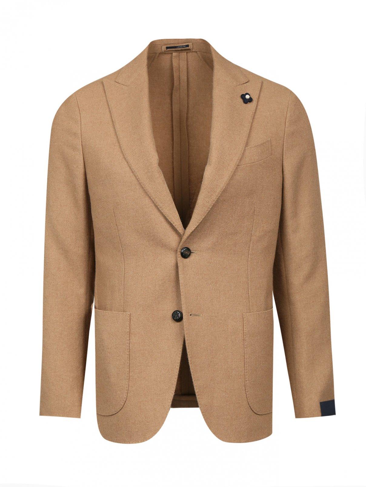 Пиджак однобортный из верблюжьей шерсти LARDINI  –  Общий вид