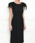 Платье-миди декорированное перьями Alberta Ferretti  –  МодельВерхНиз