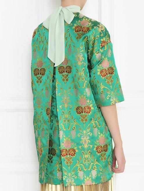 Легкое пальто с цветочным узором - Модель Верх-Низ1