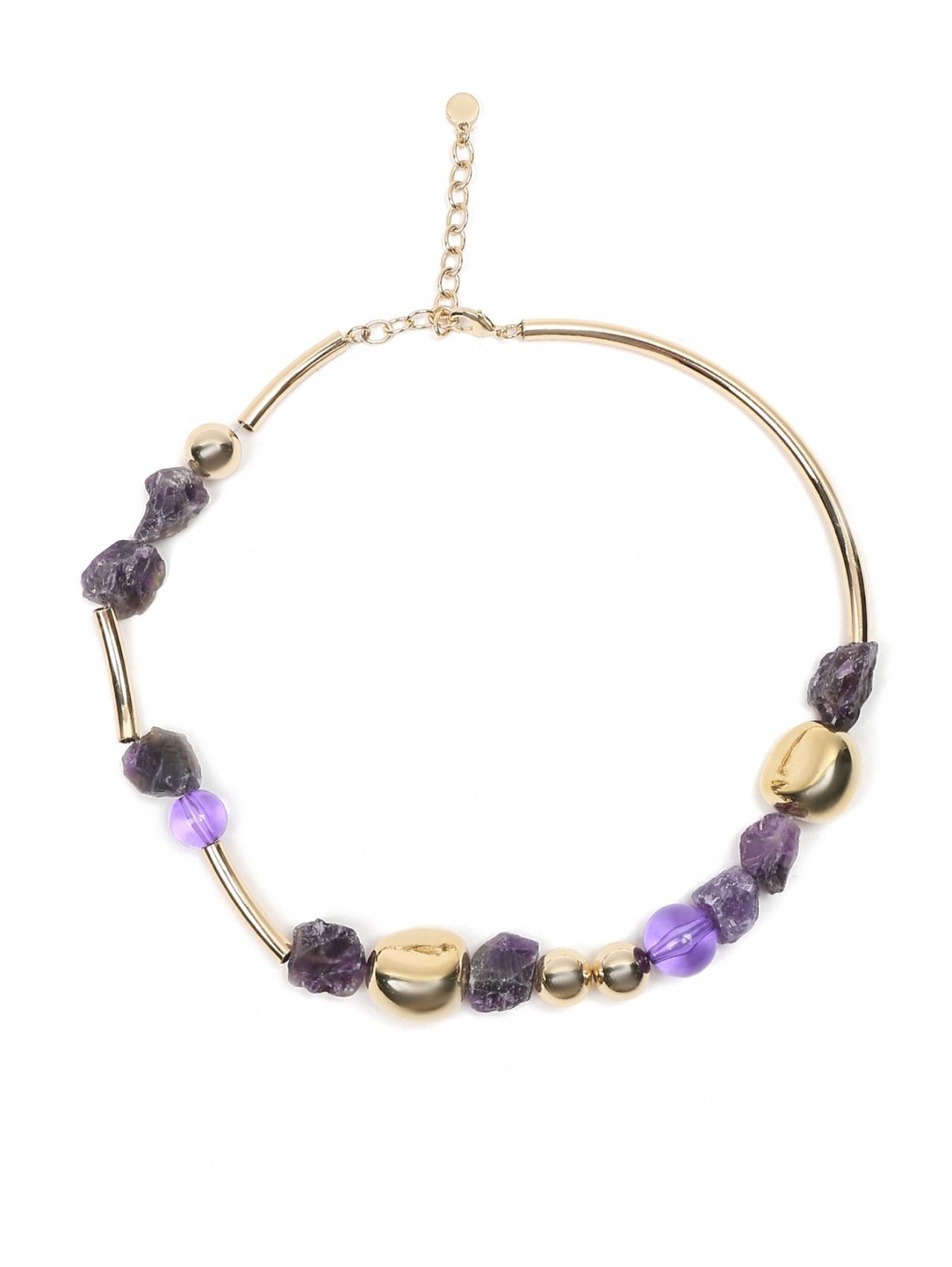 Ожерелье из металла и кварца Max&Co  –  Общий вид