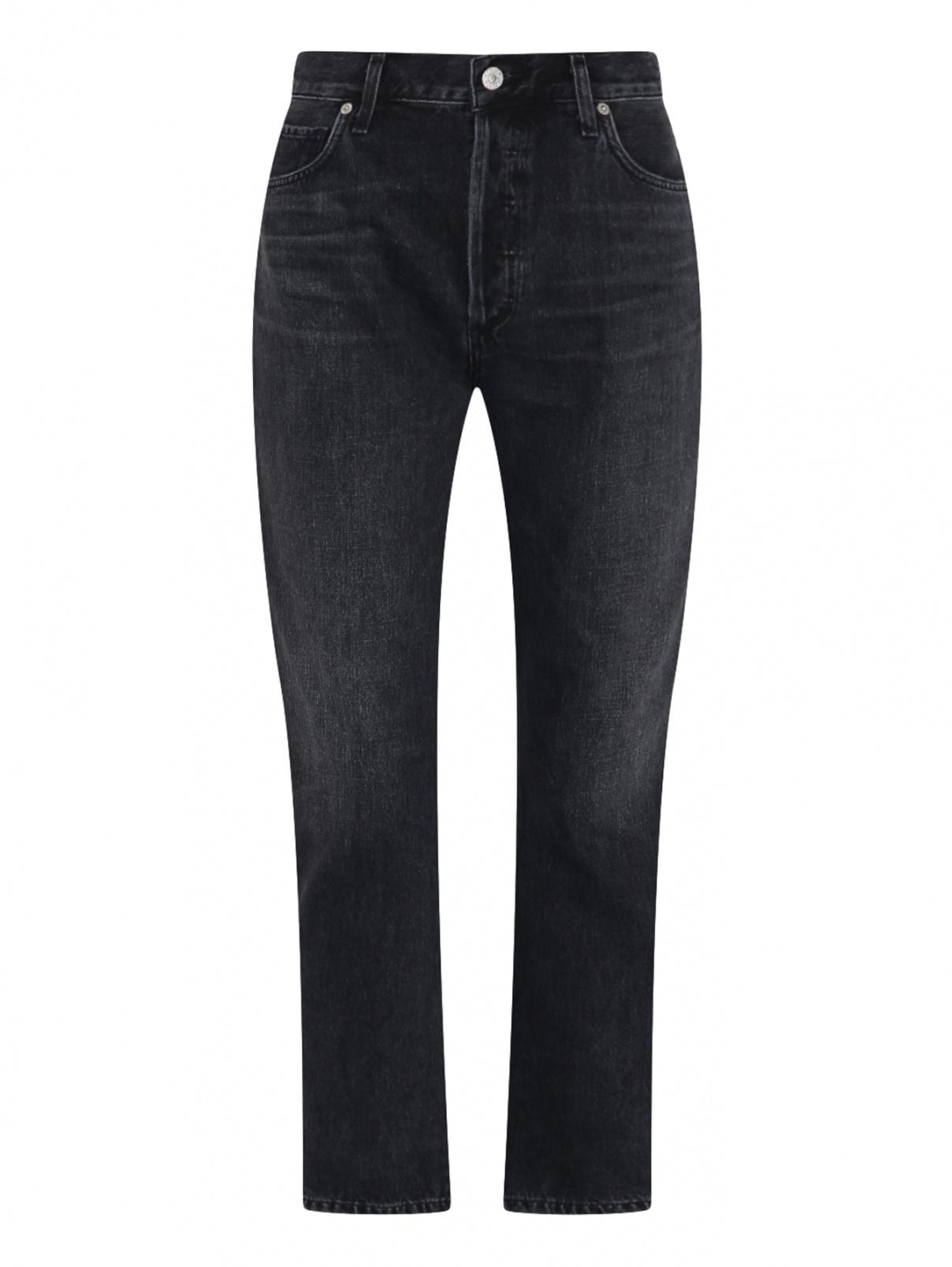 Укороченные джинсы из хлопка с потертостями Citizens of Humanity  –  Общий вид