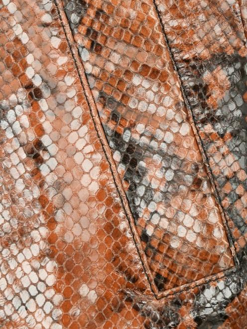 Юбка-миди из кожи с узором Dsquared2 - Деталь