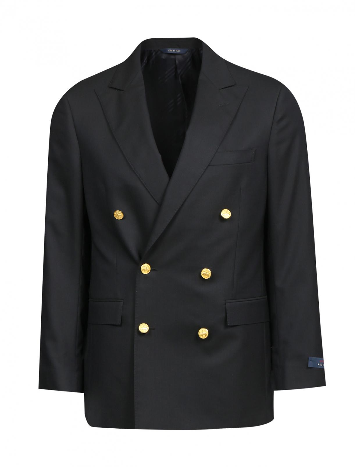Пиджак двубортный из шерсти Brooks Brothers  –  Общий вид