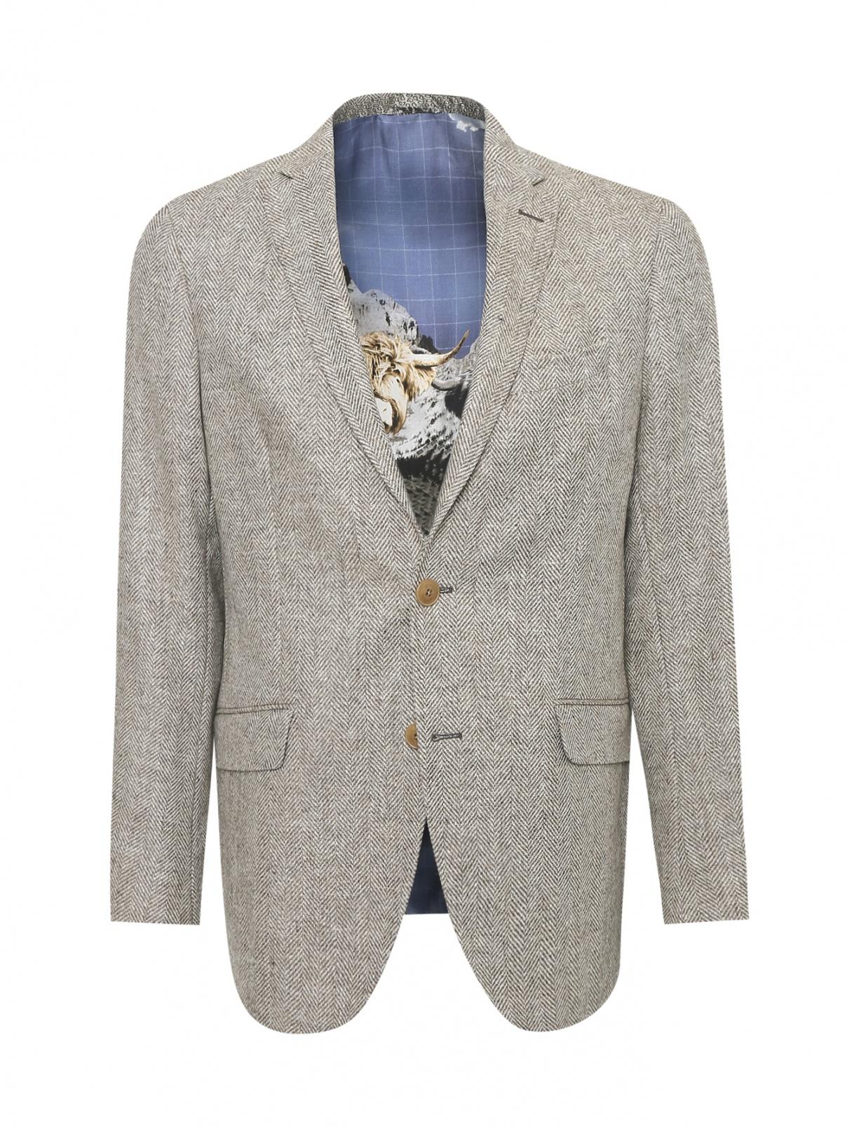 Пиджак однобортный из шерсти Etro  –  Общий вид