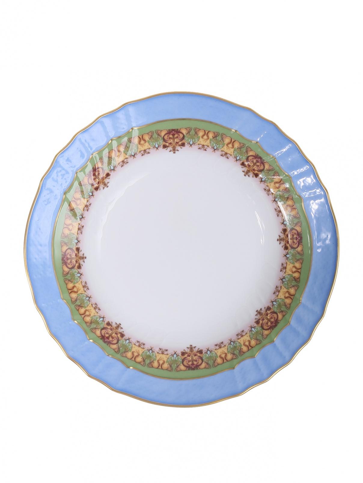 Тарелка суповая с узором и золотой каймой Richard Ginori 1735  –  Общий вид