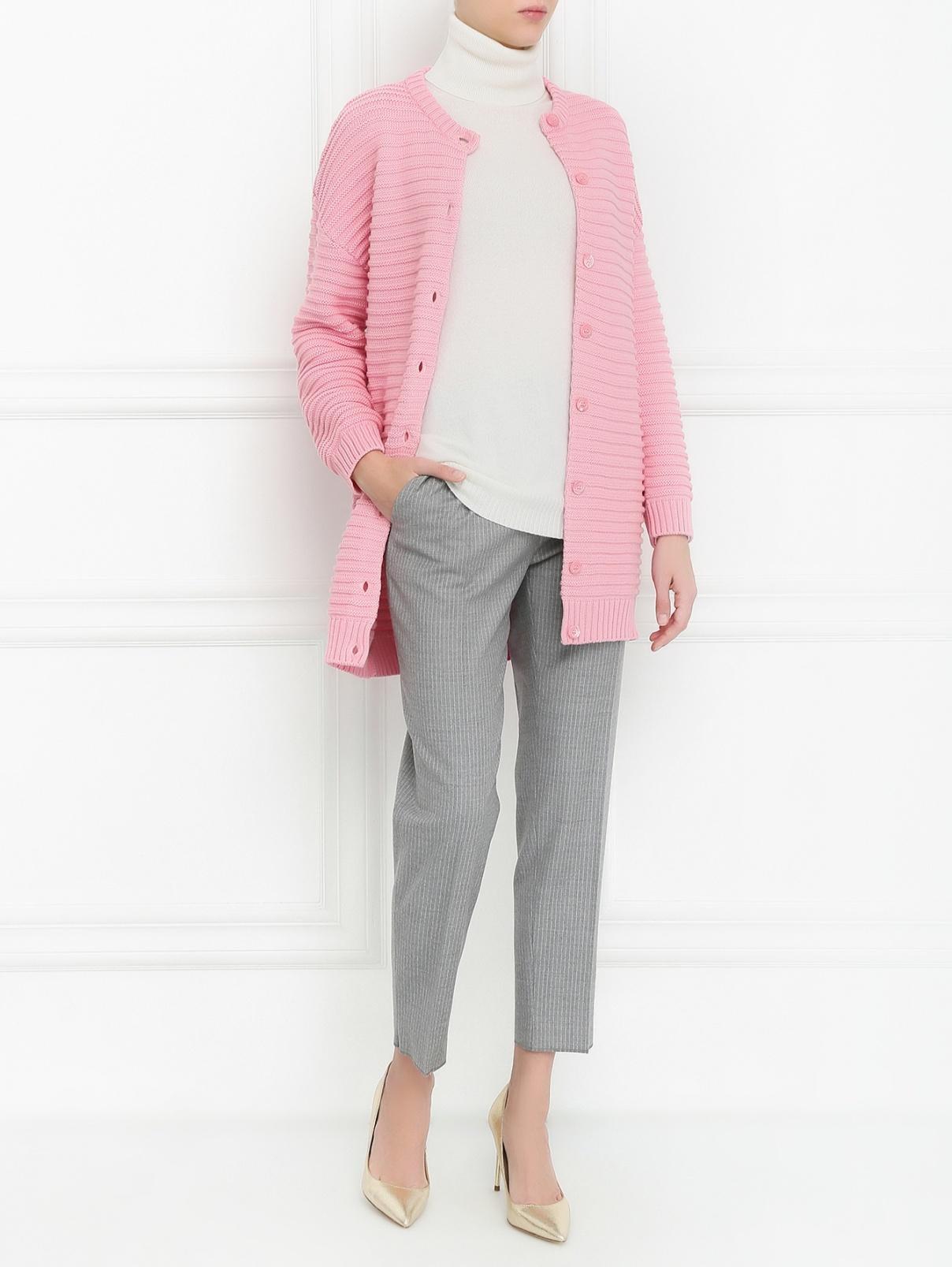 Кардиган из шерсти с боковыми карманами Moschino Boutique  –  Модель Общий вид
