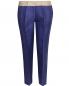 Укороченные брюки  из шелка с контрастным поясом Maurizio Pecoraro  –  Общий вид