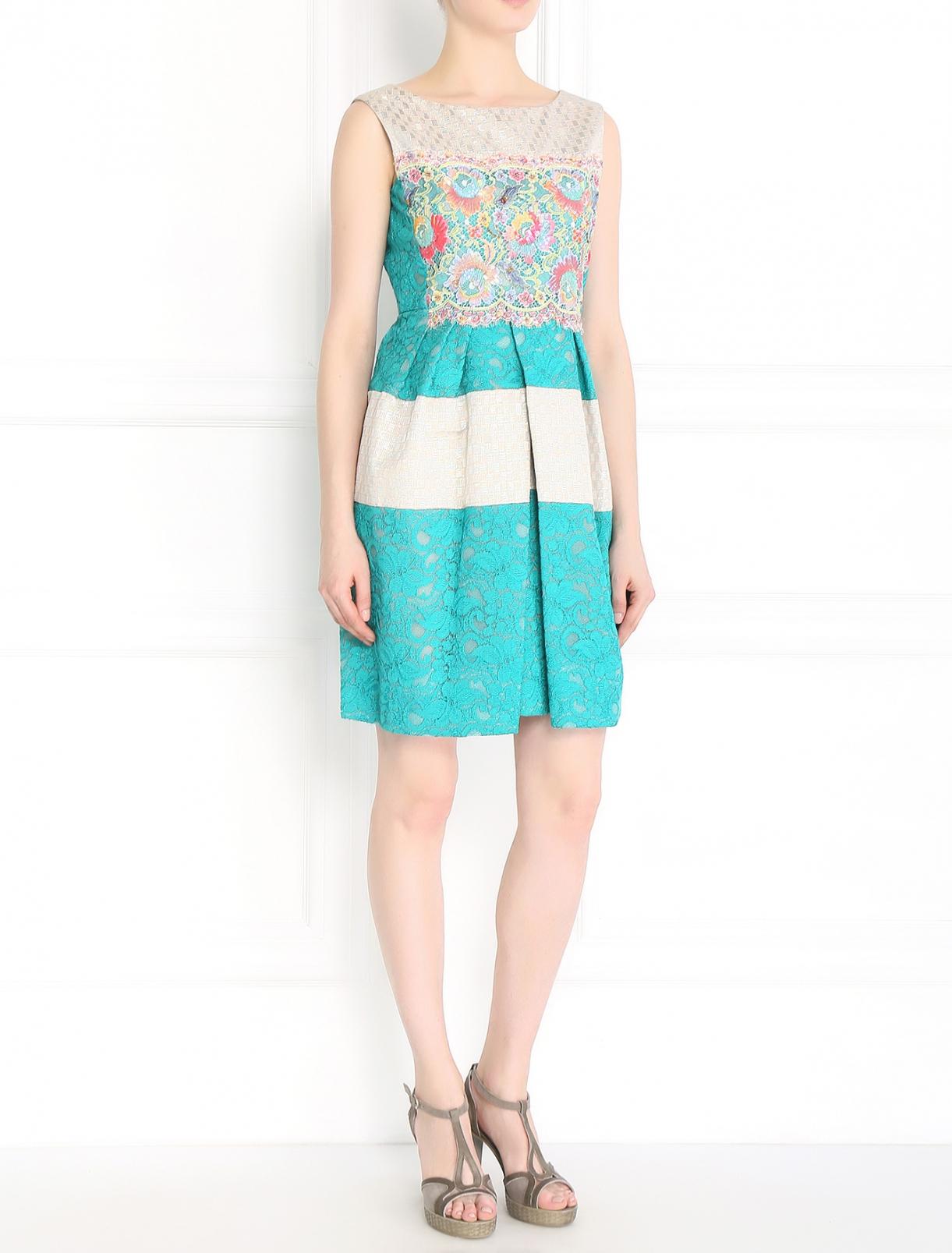 Платье-футляр из кружева с декоративной отделкой Antonio Marras  –  Модель Общий вид