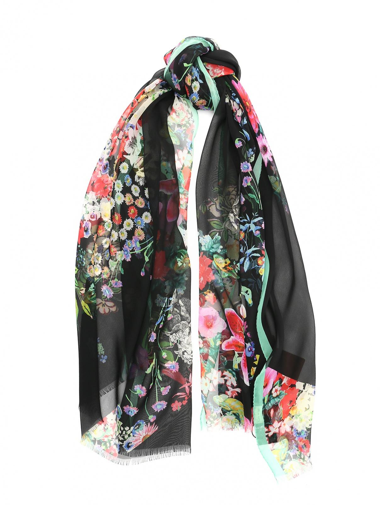 Шарф из шелка с цветочным принтом Etro  –  Общий вид