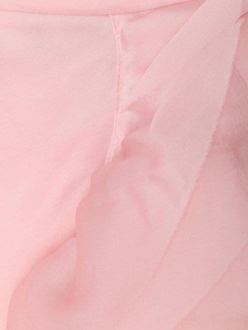 Шелковая юбка с драпировками и воланами - Деталь