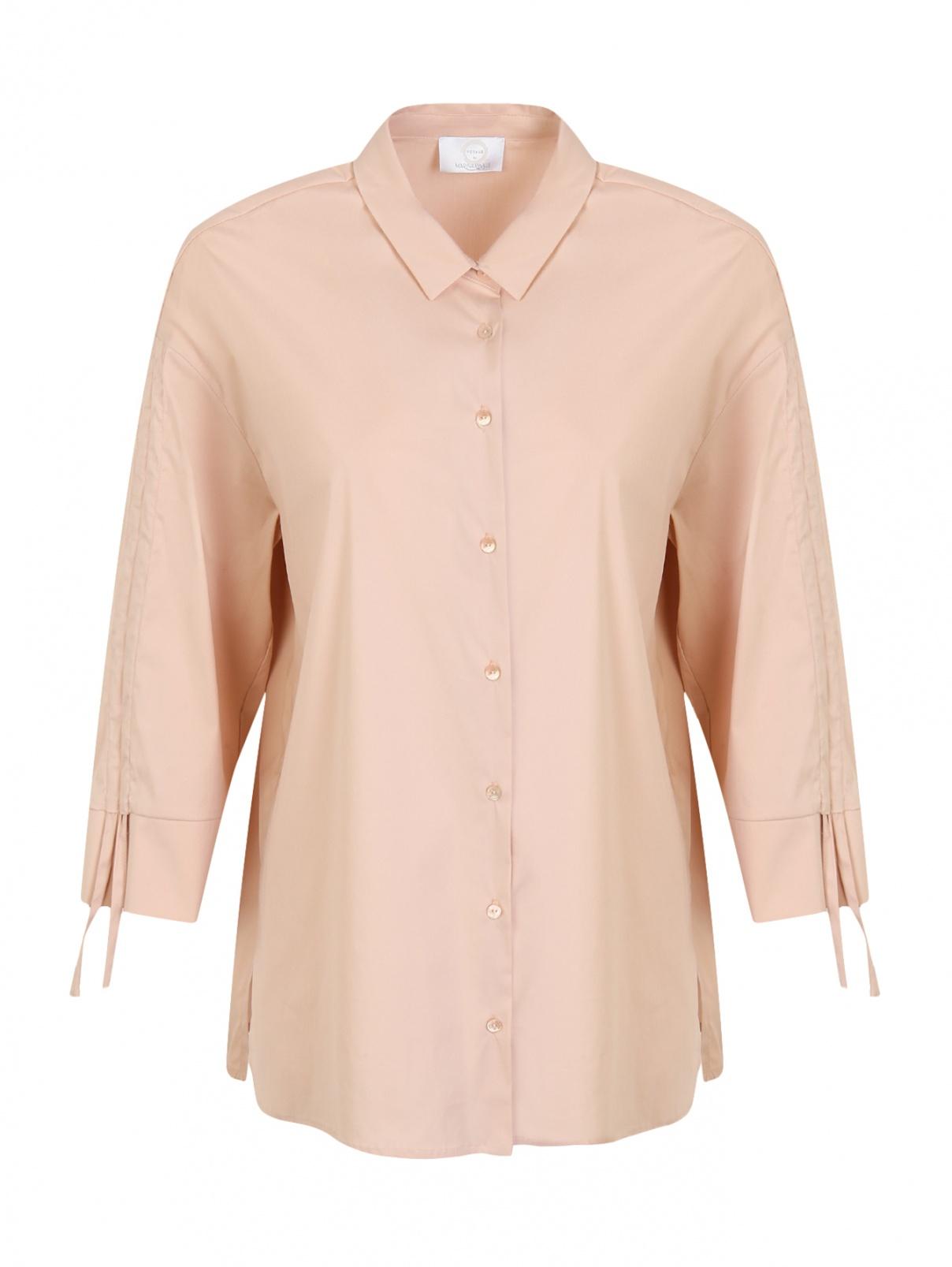Рубашка из хлопка с рукавами 3/4 Marina Rinaldi  –  Общий вид