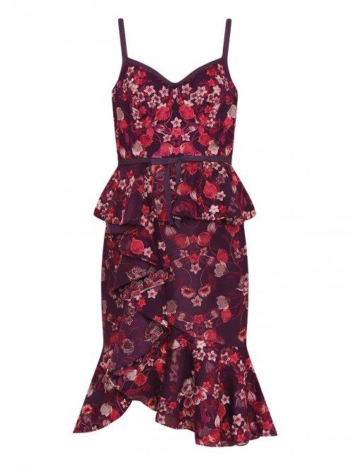 Платье с цветочным узором - Общий вид