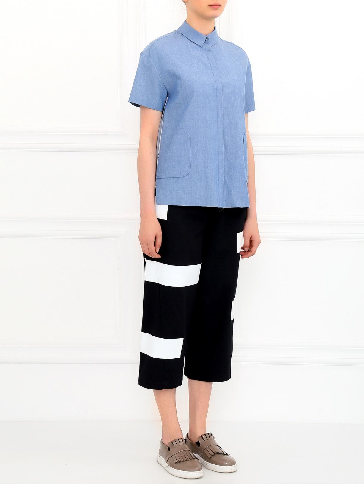 Укороченные  широкие брюки Kenzo  –  Модель Общий вид