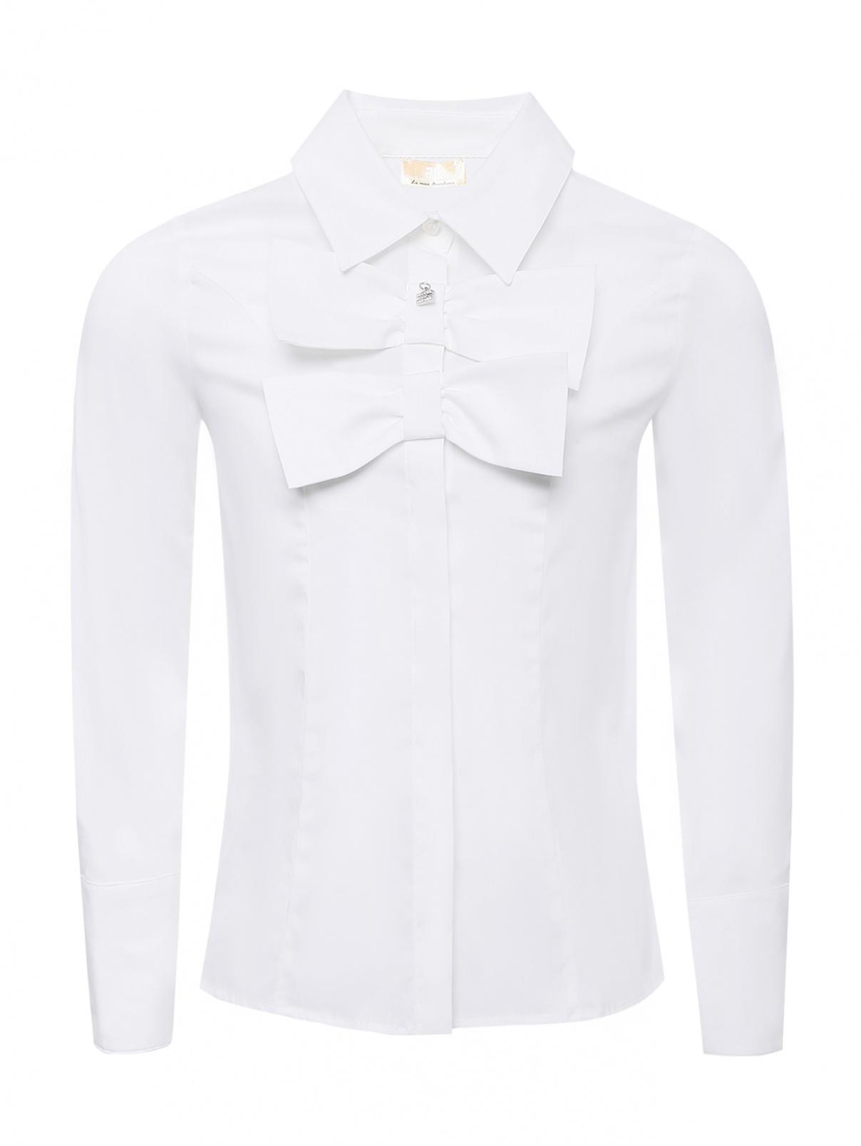 Рубашка хлопковая с бантами Elisabetta Franchi  –  Общий вид