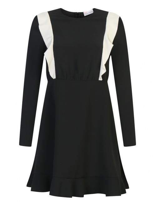 Платье-мини с контрастной отделкой Red Valentino - Общий вид