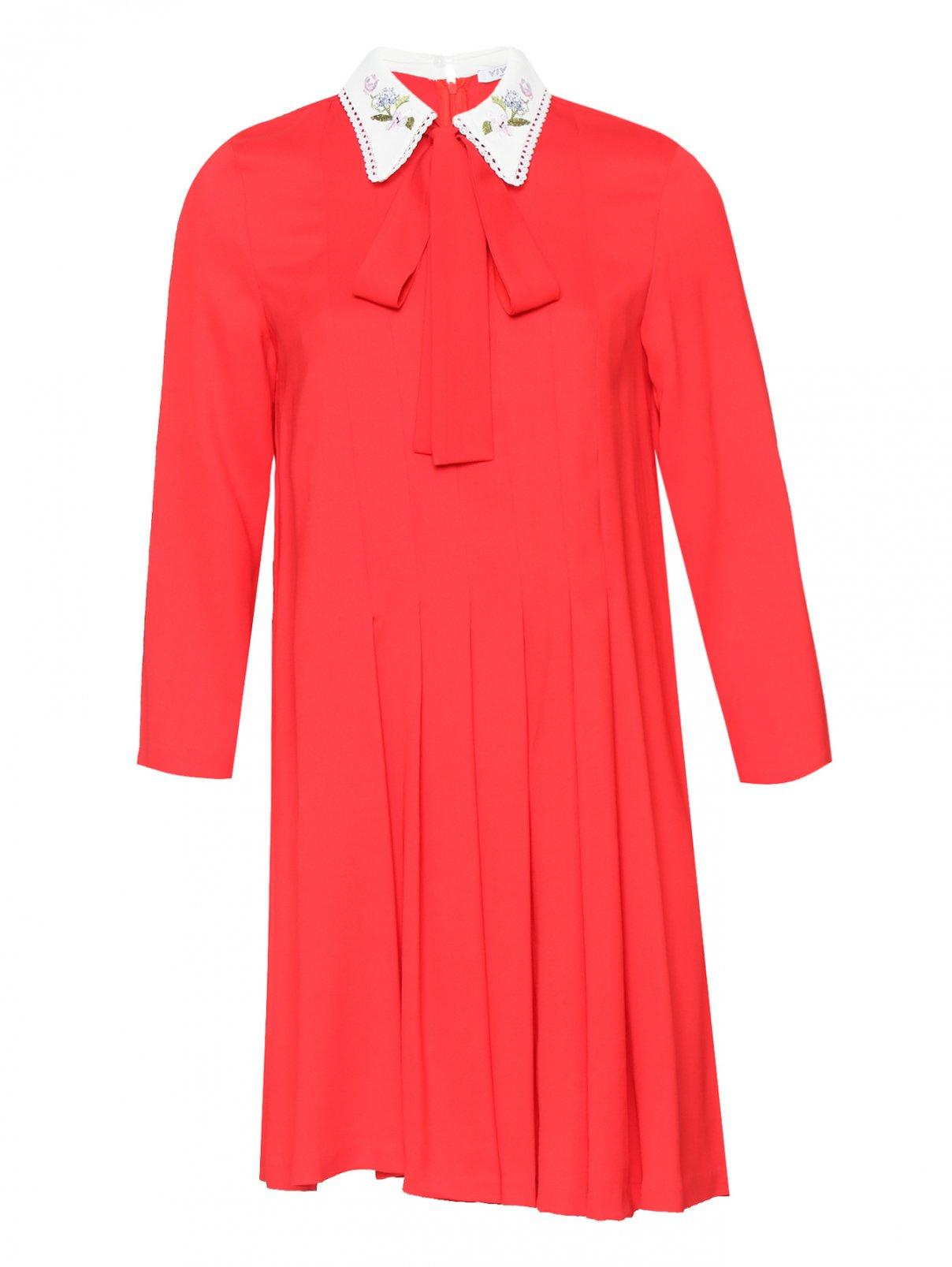 Платье-мини с контрастной отделкой Vivetta  –  Общий вид