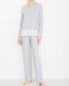Пижама трикотажная, на пуговицах Frette  –  МодельОбщийВид