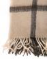 Плед в клетку с бахромой из шерсти 150 x 200 Agnona  –  Обтравка2