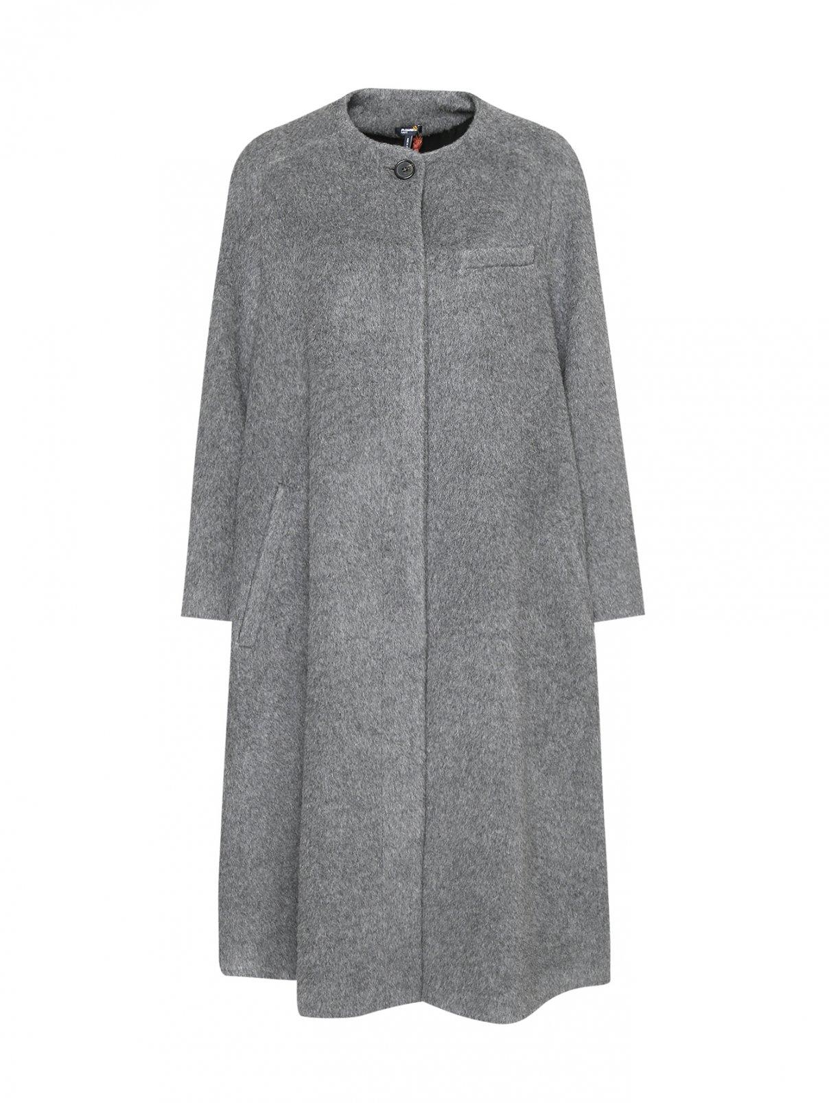 Пальто из шерсти с длинным ворсом Jil Sander Navy  –  Общий вид