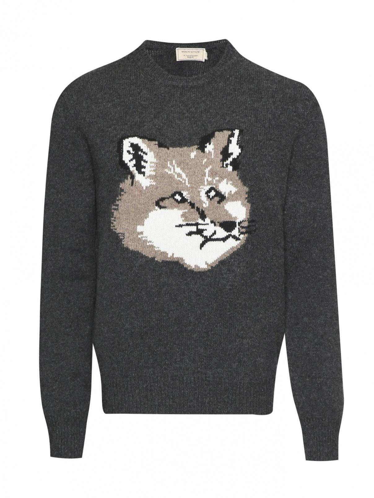 Джемпер из шерсти с узором Maison Kitsune  –  Общий вид