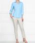 Блуза из льна в полоску Brooks Brothers  –  МодельОбщийВид