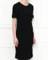 Платье-миди с драпировкой N21  –  МодельВерхНиз