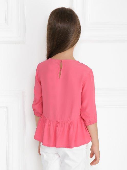 Блуза свободного кроя с баской - Модель Верх-Низ1
