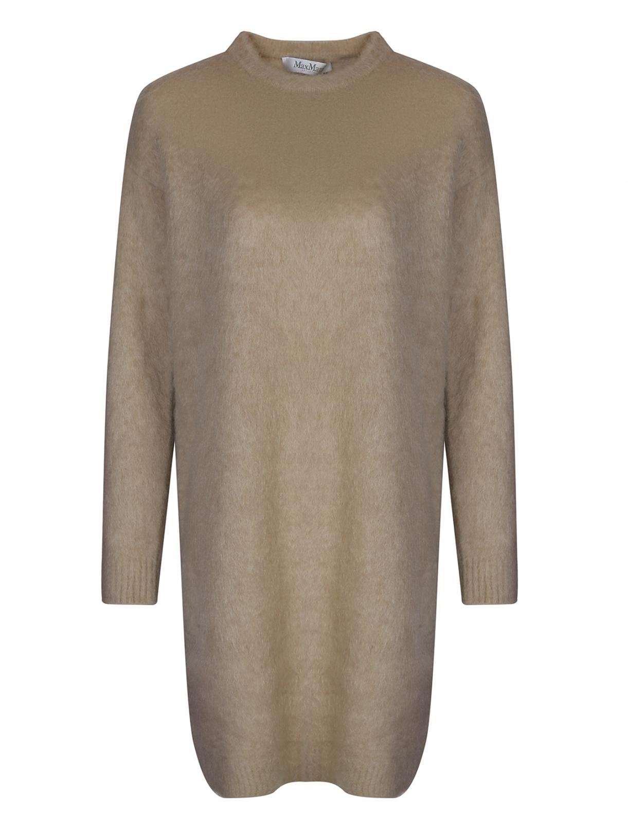 Платье трикотажное из  мохера и шерсти Max Mara  –  Общий вид