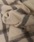 Плед в клетку с бахромой из шерсти 150 x 200 Agnona  –  Обтравка1