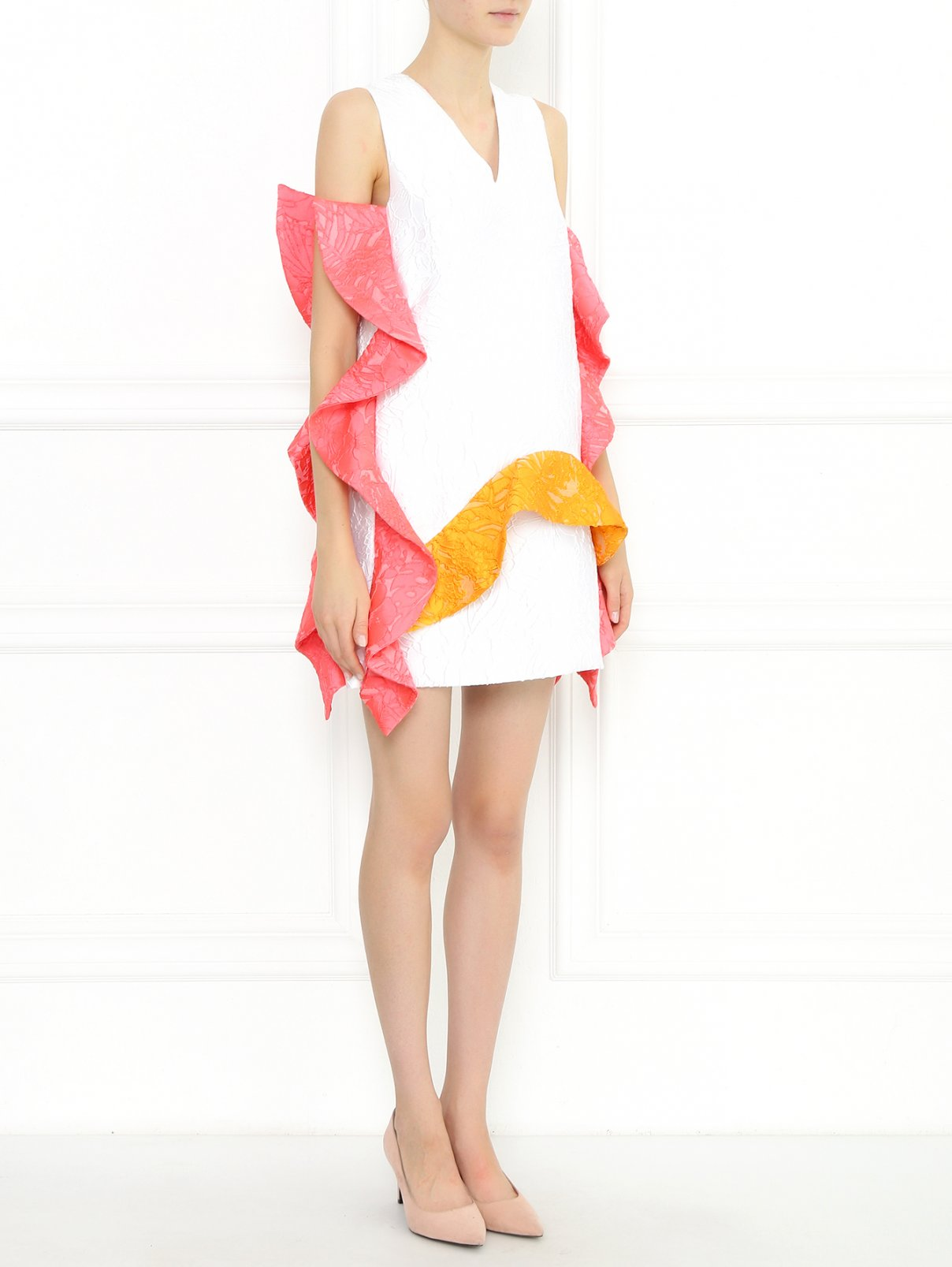 Платье-мини с декоративной отделкой MSGM  –  Модель Общий вид