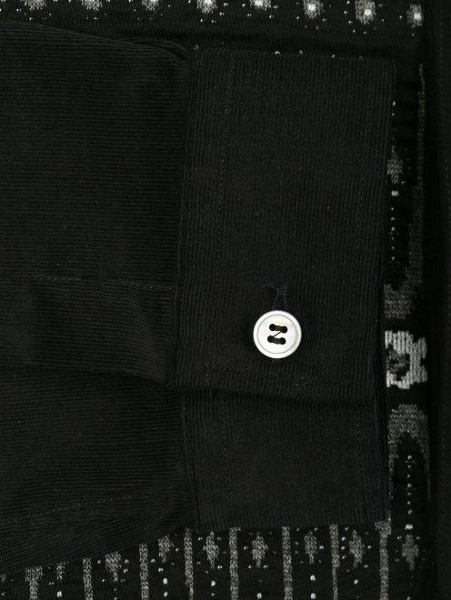 Рубашка вельветовая с узором - Деталь1