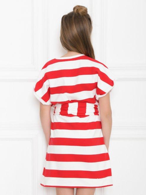 Платье трикотажное в широкую полоску - МодельВерхНиз1
