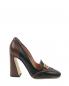 Туфли кожаные с золотой фурнитурой Alberta Ferretti  –  Обтравка1