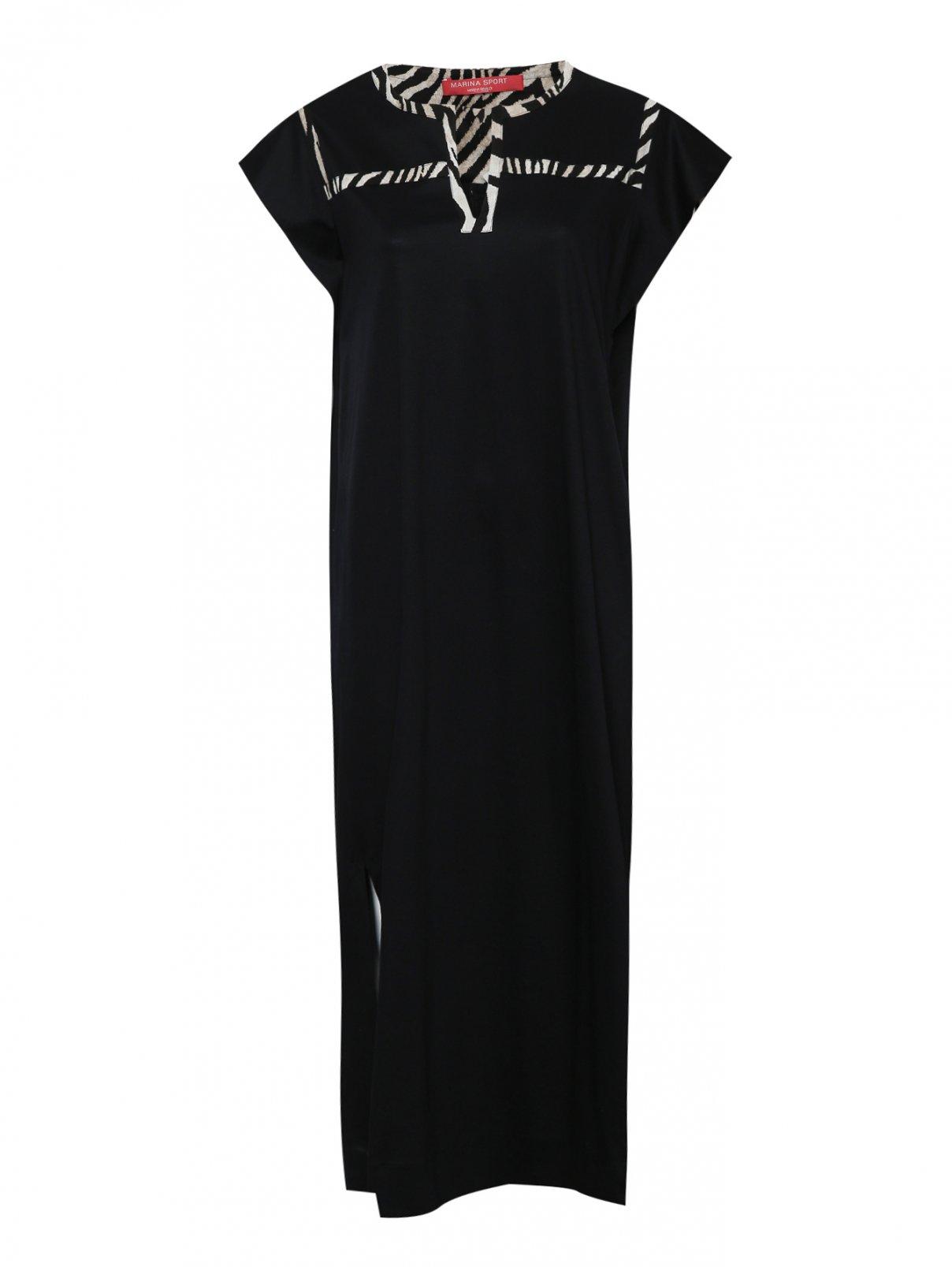 Платье макси с анималистичной отделкой Marina Rinaldi  –  Общий вид