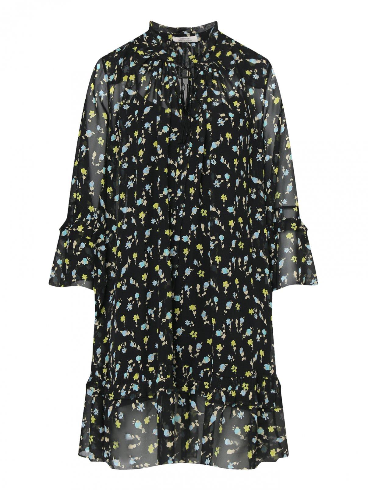Платье из шелка с цветочным узором Dorothee Schumacher  –  Общий вид
