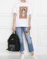 Рюкзак текстильный с принтом Moschino  –  МодельОбщийВид
