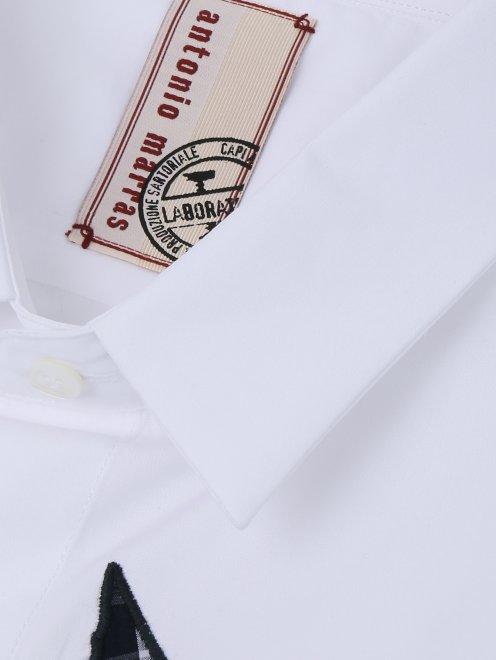 Рубашка из хлопка с узором на груди - Деталь
