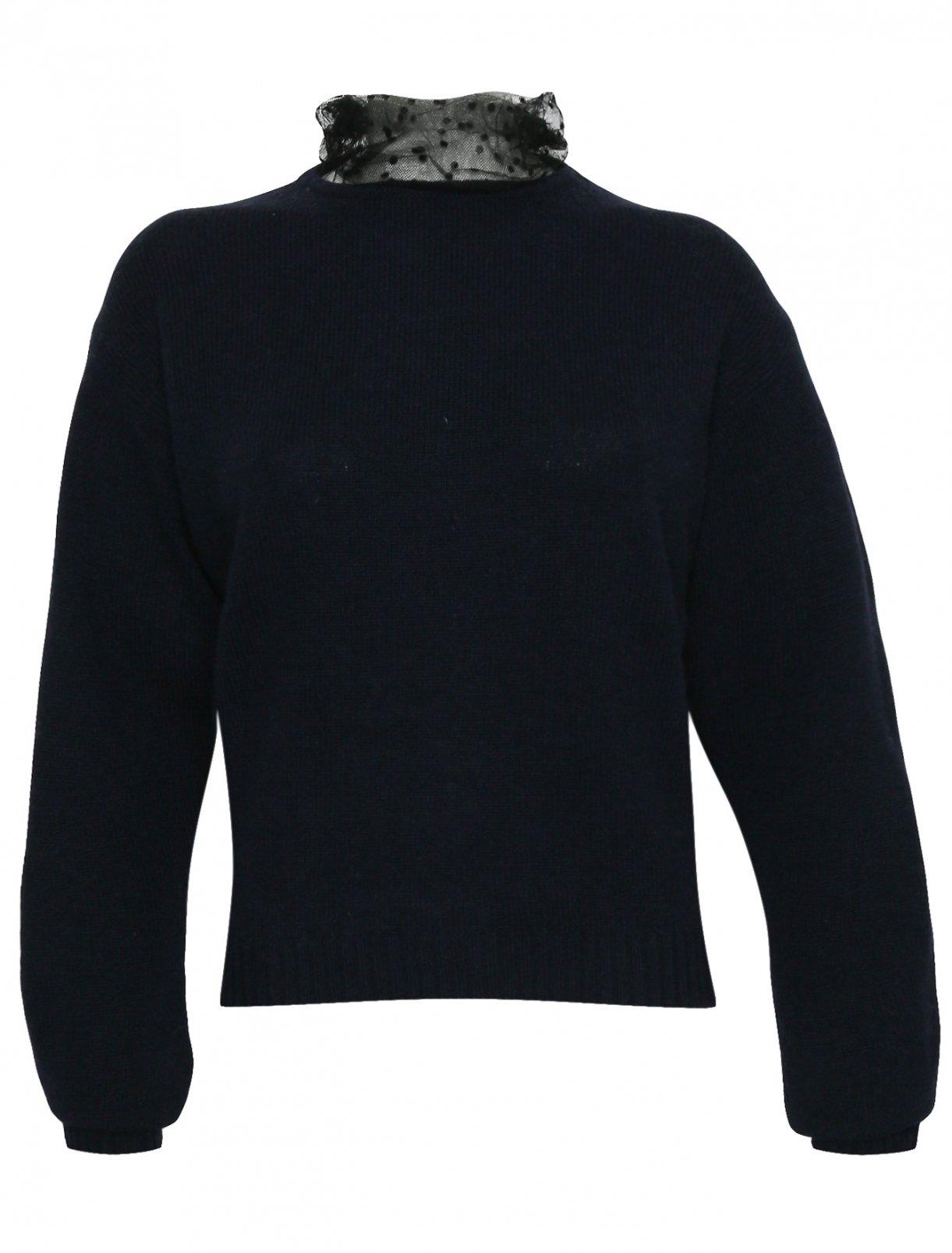 Джемпер из смешанной шерсти с декоративной отделкой Max&Co  –  Общий вид
