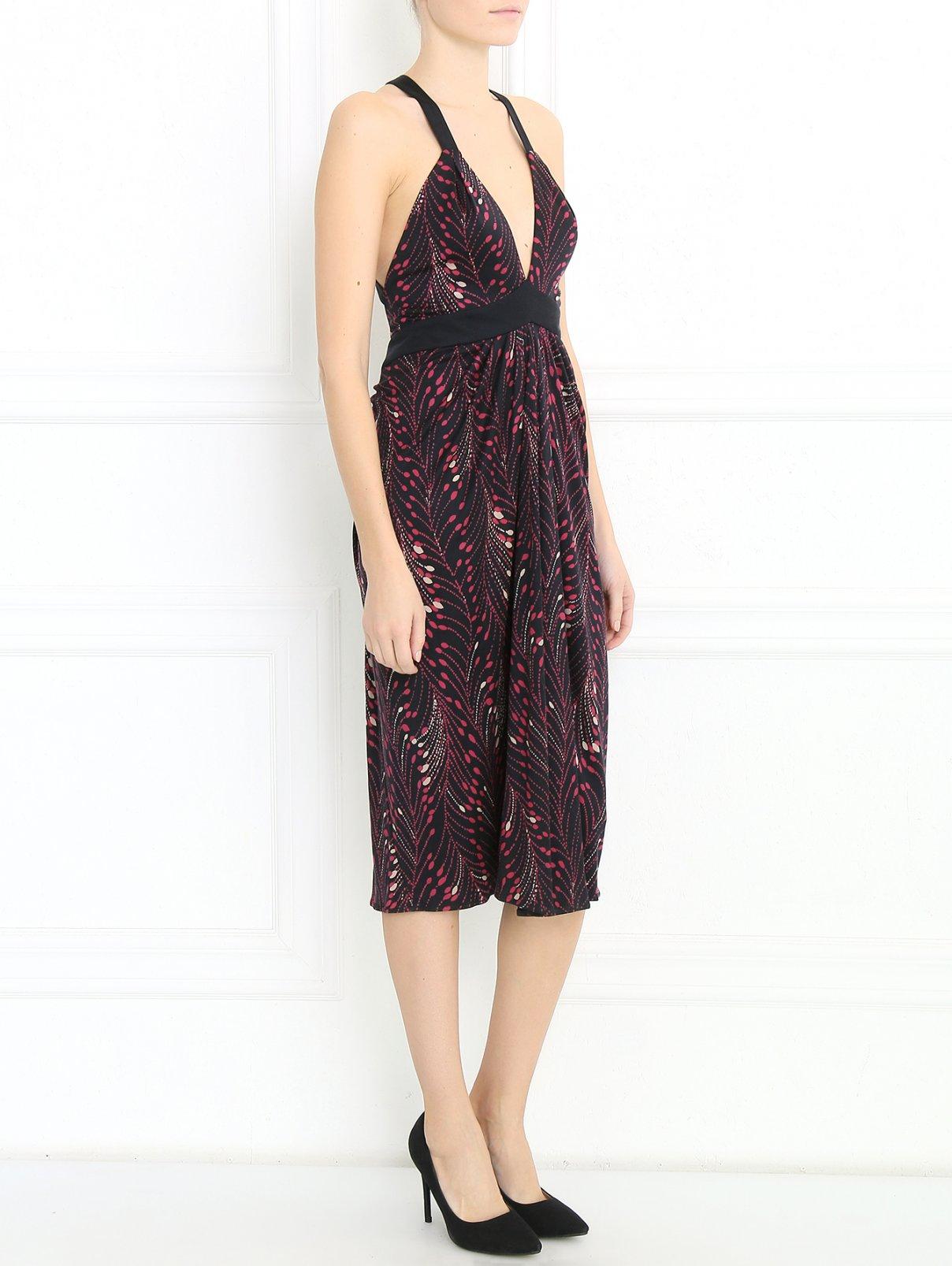 Платье из шелка с узором Temperley London  –  Модель Общий вид