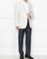 Пиджак однобортный из хлопка и льна Etro  –  МодельОбщийВид