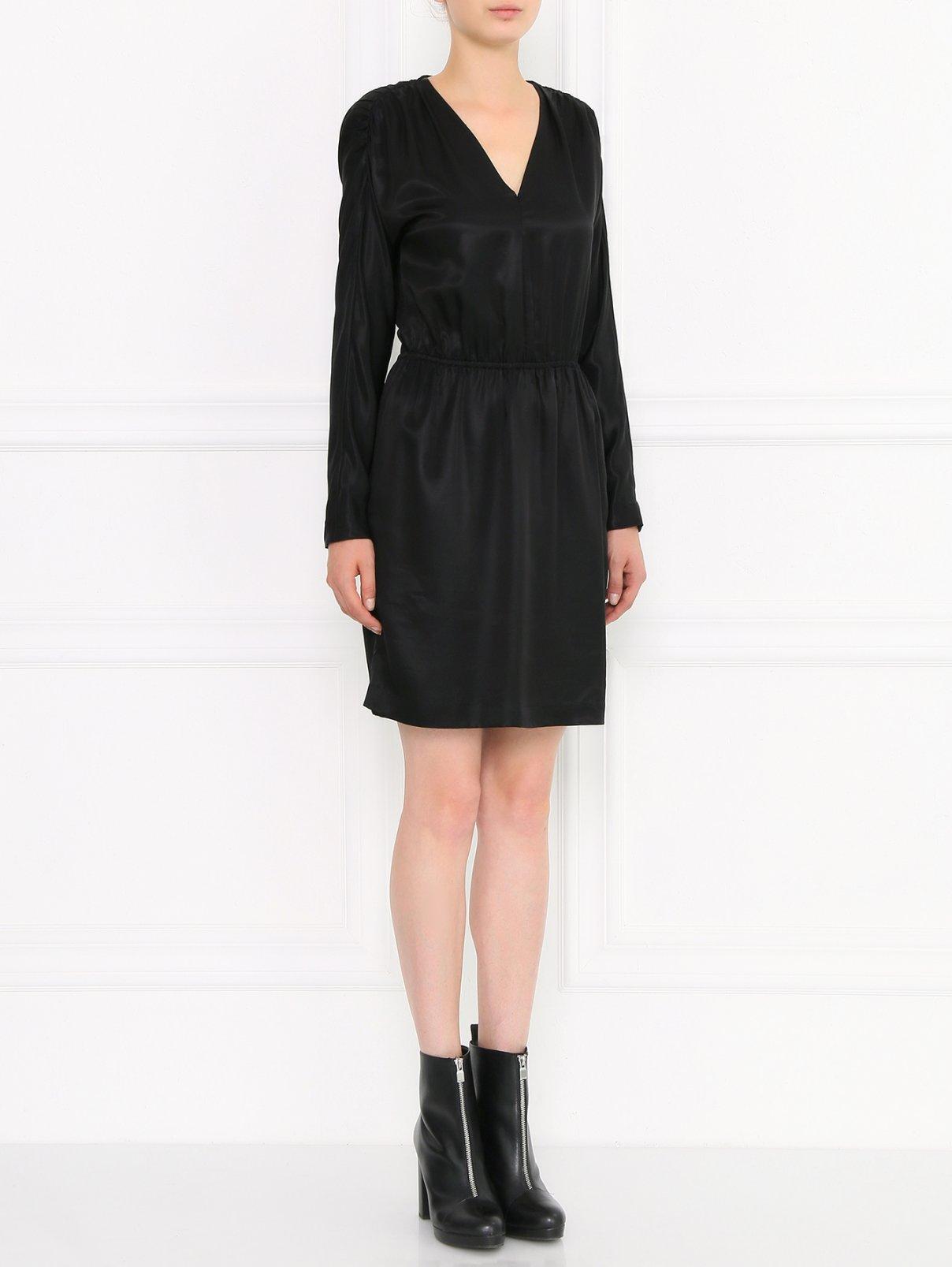 Платье-мини с длинным рукавом Halston  –  Модель Общий вид