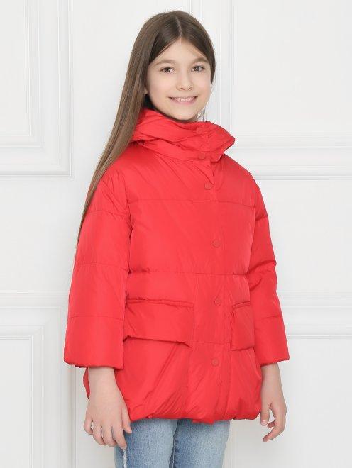 Куртка стеганая с капюшоном  - МодельВерхНиз