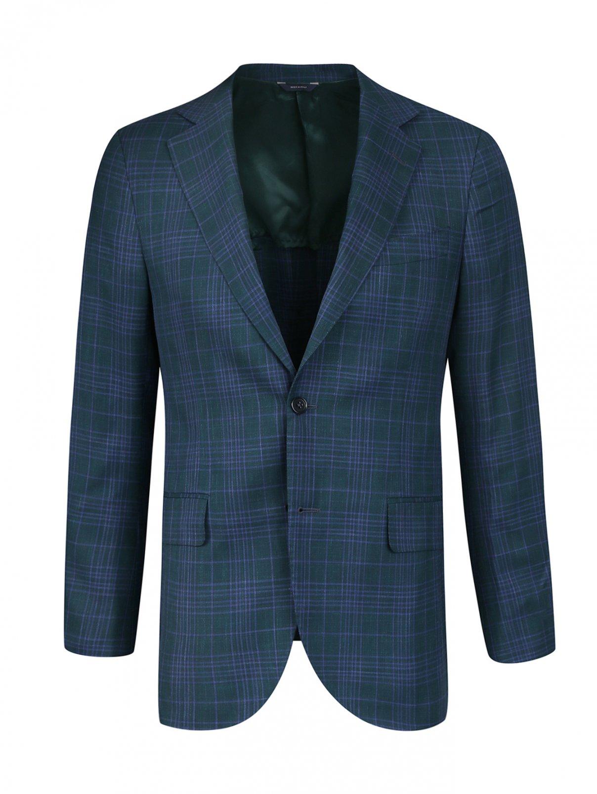 Пиджак из шерсти и шелка Tombolini  –  Общий вид