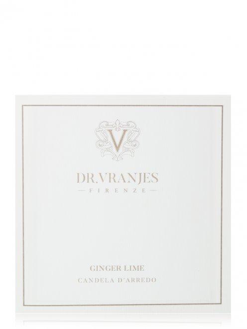 Свеча Ginger Lime Pearl White 500г Home Fragrance Dr. Vranjes - Обтравка2