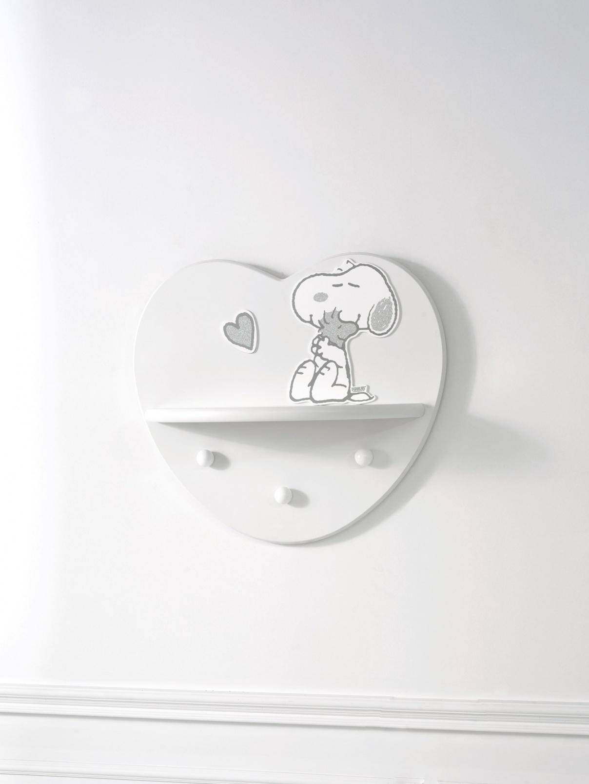Полка в виде сердца с вешалкой снизу и рисунком Baby Expert  –  Общий вид