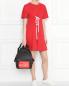 Платье хлопковое, с декоративной шнуровкой Love Moschino  –  МодельОбщийВид