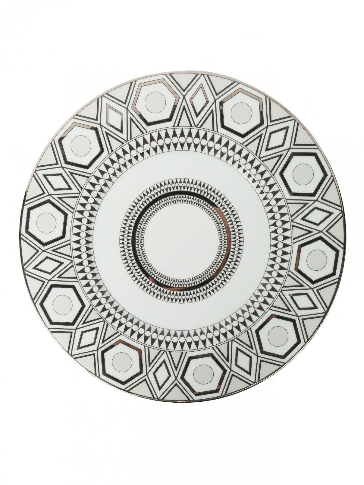 Тарелка подстановочная из фарфора с геометрическим орнаментом Haviland  –  Общий вид