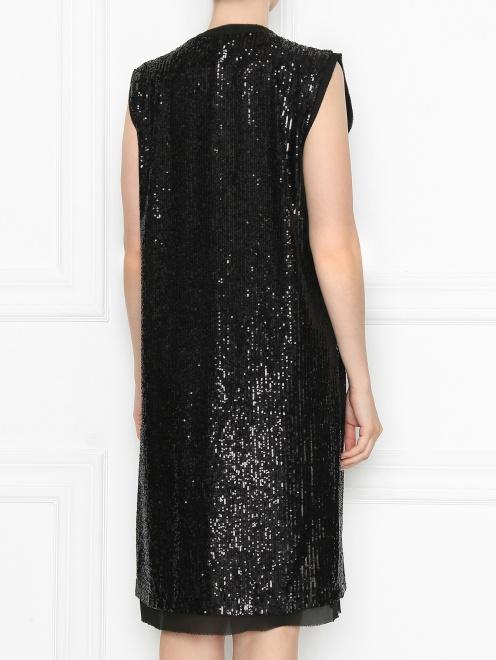 Платье из ткани в пайетках - МодельВерхНиз1