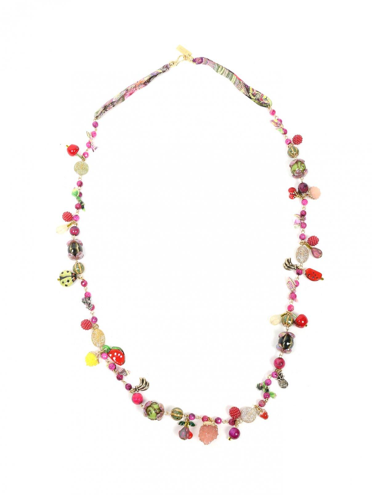 Ожерелье из стекла и латуни Etro  –  Общий вид